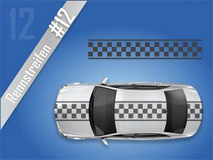 Autostreifen-Rennstreifen-Mustang-Racing-Streifen-Viperstreifen #2112