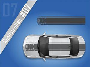 Autostreifen-Rennstreifen-Rallystreifen-Viperstreifen #2107