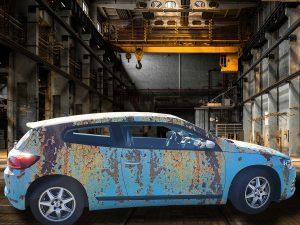 006-007-Car-Wrapping-Autofolie-Rost-Design-stark-verrostet-in-Industriehalle