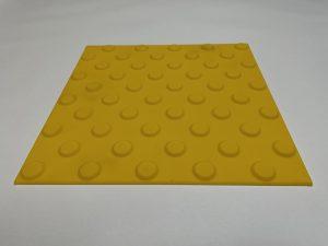 1010-haptischer-Boden-Bodenindikatoren-Platte-Polyurethan-300x300mm-25mm-Noppen-gelb