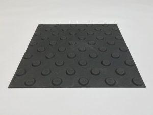 1010-haptischer-Boden-Bodenindikatoren-Platte-Polyurethan-300x300mm-25mm-Noppen-schwarz