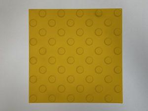 1010-taktile-Bodenleitsystem-Aufmerksamkeitsfeld-Platte-30x30cm-25mm-Noppen-gelb