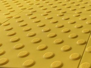 1010-taktile-Bodenleitsysteme-Aufmerksamkeitsfelder-Warnplatte-Polyurethan-gelb