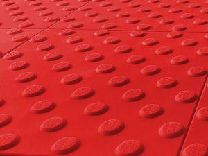 1010-taktile-Bodenleitsysteme-Aufmerksamkeitsfelder-Warnplatte-Polyurethan-rot