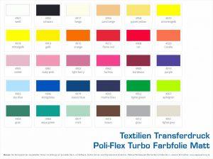 Textilien Transferdruck Poli-Flex Turbo Farbfolien-Matt