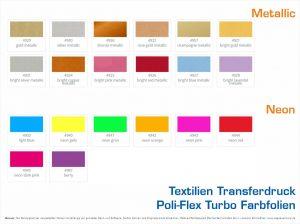 Textilien Transferdruck Poli-Flex Turbo Farbfolien-Neon-Metallic