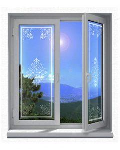 Sichtschutz-Glasdekor-Folienmotiv-Jugendstil-viktorianischem-Stil-004-positiv