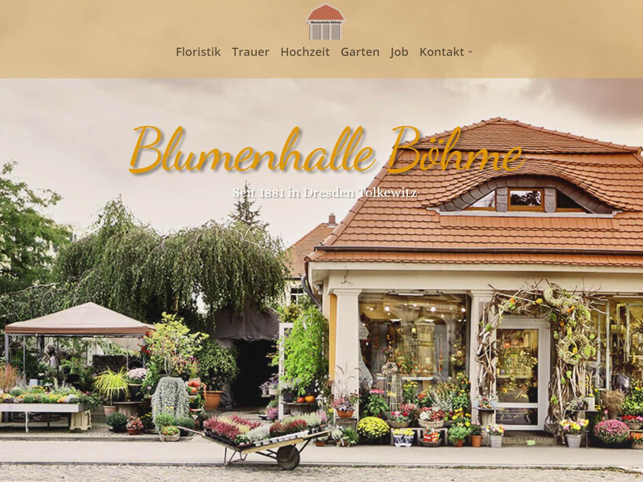 Werbeagentur-Dresden-Wegaswerbung-Webdesign-Webseite-Blumengeschaeft-Boehme