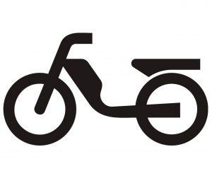 Fahrzeug_0005 Wandtattoo_Moped
