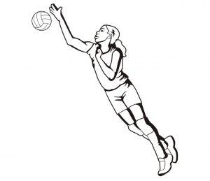 Mensch_0026 Volleyball Wandtattoo