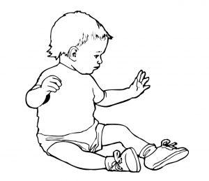 Mensch_0029 Baby Wandtattoo