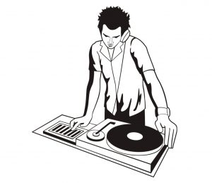 Mensch_0035 DJ Schallplatte Wandtattoo
