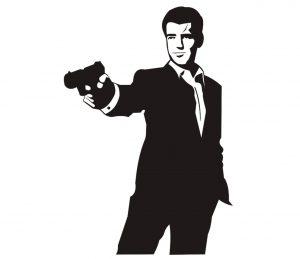 Mensch_0039 James Bond Wandtattoo