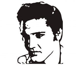 Mensch_0041 Elvis Presley Wandtattoo