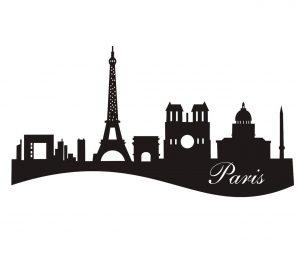 Stadt_0016 Paris_silhouette_Wandtattoo
