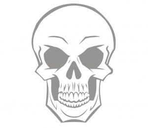 fantasy_0011 totenkopf skull Wandtattoo