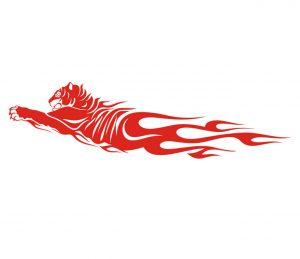 flamme_0006 tiger Wandtattoo