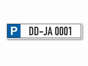 546-Parkplatzschild-Kennzeichen