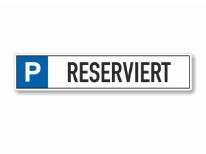 546-Parkplatzschild-Reserviert