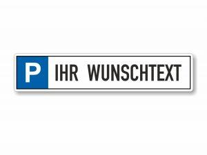 546-Parkplatzschild-Wunschtext