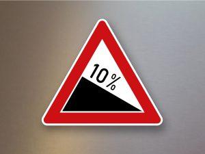 Verkehrsschild-Verkehrszeichen-Gefahrenzeichen-Gefaelle-108