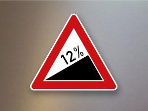 Verkehrsschild-Verkehrszeichen-Gefahrenzeichen-Steigung-108