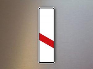 Verkehrsschild-einstreifige-Bake-Aufstellung-links-162-20