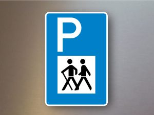 Verkehrsschilder-Parkplatzschilder-Wandererparkplatz-317